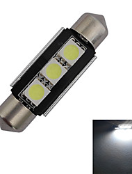 Luces Decorativas Festoon 1 W 3 SMD 5050 60-70lm LM Blanco Fresco DC 12 V