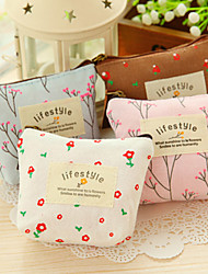 Vintage Flower Floral Pencil Pen bag Cosmetic Makeup Storage bag Case Purse(Random Color)