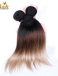 """3шт / много 14 """"-26"""" перуанский девственница цвет волос 1b / 4/27 прямо человеческие волосы ткет"""