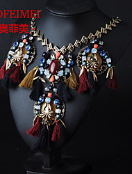 Star with money personality tassel necklace gem exaggerated