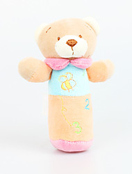 Fly By Fly- Baby's Pure Cotton Colorful Bear Hand Rods Stuffed Dolls