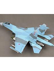statique modèle de simulation militaire de Su-27 modèle de chasseur 01:32