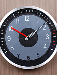 "Original Design/Modern/Casual/Fashion Metal Round Mute Wall Clock Diameter 12"" Own Style Hands Bevel Minute Track"