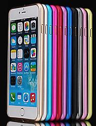 ultra fino caixa de metal no vidro traseiro para iphone 6s 6 mais