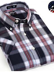 U&Shark Casual&Dress Men's 100% Fine Cotton Short Sleeve Shirt  by American Wahsing/DCSX-003