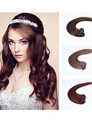 8pcs / lot 20inch / 50cm multicolors 100g / pack pinza directamente a la extensión del pelo grade5a extensión del pelo humano