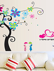 pegatinas de pared Tatuajes de pared, colorido árbol pegatinas de pared del pvc