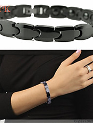 OPK®Brazil Black Gallstone Anti-fatigue Anti-radiation Magnetic Therapy Health Beautiful lady Ceramic Bracelet