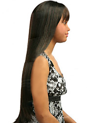 The New European And American Long  Black Straight Hair Wig
