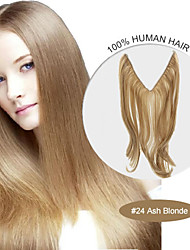 20inch #24 Ash Blonde Halo Hair Extensions 100% Human Hair Flip in Hair Extensions Best Quality 007