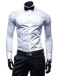 Camisa Casual ( Algodão Organico ) MEN - Casual Quadrado - Manga Curta