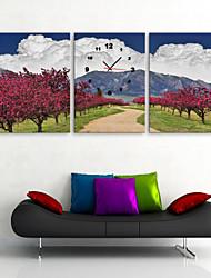 E-Home® горы и мангровые часы в холст 3шт