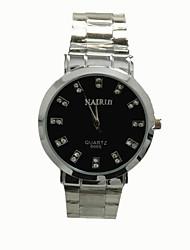 simples Diamond Watch de quartz hommes de châssis étanche