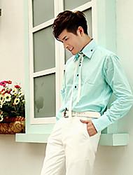Light Green Cotton Tailorde Fit Shirt