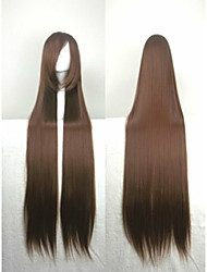 Popular Cosplay Wig Party Wig Brown Cartoon Wig 40 Inches Super Long Straight Animated Synthetic Hair Wigs