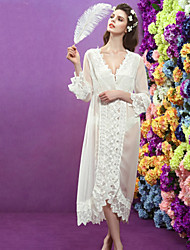 Sweet sexy translucent Women Chiffon/Lace Thin Pajama