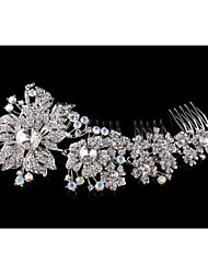 Vintage Wedding Party Bridal Bridesmaid Round Diamond Section IV activity Hair Comb For Women