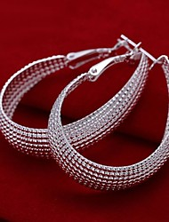 Earring 925 Sterling Silver Drop Earrings Jewelry Women Wedding / Party / Daily / Casual Sterling Silver 2pcs Silver