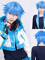 Angelaicos Women Long Dramatical Murder DMMd AOBA Blue Gradient Straight Lolita Halloween Cosplay Costume Party Wig
