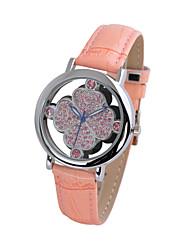 Uhren modischen transparenten Gehäuse Blumenuhr Frauen