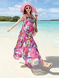 Women's Bohemia Chiffon Loose Beach Maxi Dress