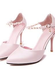 Damenschuhe - High Heels - Kleid - Kunstleder - Stöckelabsatz - Wedges / Spitzschuh - Blau / Rosa / Weiß