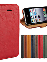 Para iPhone 8 iPhone 8 Plus Carcasa Funda Cuerpo Entero Funda Dura Cuero Auténtico para iPhone 8 Plus iPhone 8 iPhone 4s/4