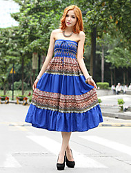vestido de sol vintage tubo oscilante boemia das mulheres (mais cores)