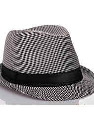 Panama Hat Style Cotton for Men (Black and White)