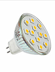 1 pcs  2W 12X SMD 5050 200LM 2800-3500/6000-6500K Warm White/Cool White MR16 Spot Lights DC 12V
