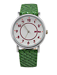 Women's Fashion Sport Watch Circular Dial PU Leather Strap  Quartz Movement Wrist Watches (Assorted Colors)