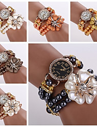 Wristwatches Women Dess Watches Ladies Fashion Luxury Pearl Bracelet Watch Hot Sale Womens Watches Top Brand Cool Watches Unique Watches