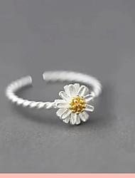 pure daisy S925 verzilverde ring handgemaakte cadeau