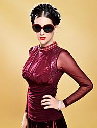 Women's Vintage Lace sequin Frill Bodycon T-shirt