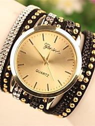 péril la montre bracelet décontracté pu quartz bande analogique des femmes (couleurs assorties)