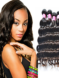 """3 / Los 8 """"-34"""" unverarbeitete brasilianische reine Haar natürliche schwarze Farbe natürlichen Gewebe Haarverlängerung."""