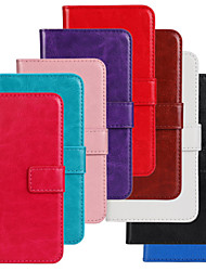 For Nokia Case Wallet / Card Holder / with Stand Case Full Body Case Solid Color Hard PU Leather Nokia Nokia Lumia 520