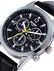 Watch Men's PU leather Quartz Wrist Watch RUIBA Brand Man Casual Fashion watches (Assorted Colors)