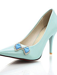 Women's Shoes Stiletto Heel Pointed Toe Bowknot Rhinestone Pump More Color Available
