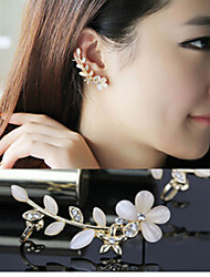 Earring Ear Cuffs Jewelry Women Birthstones Wedding / Party / Daily / Casual Alloy / Resin 1pc Ivory