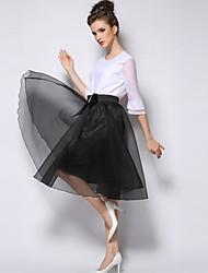 Sagetech Women's Solid Color Elegent Bubble Skirt(More Colors)