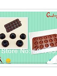 moda olhos engraçados diy molde chocolate / bolo silicone molde / cake molde fabricação de decoração (cor aleatória)
