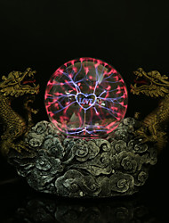 mágica bola de cristal de la lámpara de resina doble dragón