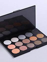 15 Paleta de Sombras Secos Paleta da sombra Pó Normal Maquiagem Esfumada