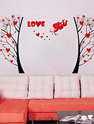 adesivos de parede decalques de parede, árvore de amor parede pvc adesivos