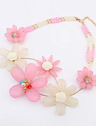 Women's Fresh Elegant European Style Flower Necklace