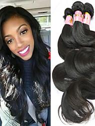"3 Pcs/Lot 8""-34"" Peruvian Virgin Hair Natural Black Color Body Wave Hair Extension"