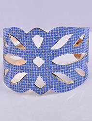 d dépasse bracelet bijoux de mode l'or des femmes plaqué bracelet large évider point rond bracelets main de gommage de manchette