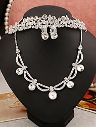 Conjunto de jóias Mulheres Aniversário / Casamento / Noivado / Festa / Ocasião Especial Conjuntos de Joalharia Liga / Folheado / Strass