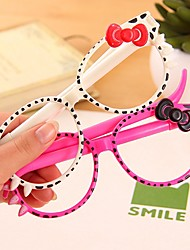 Cute Cartoon Kitty with Bowknot Stylish Multi Color Ballpoint Pen (Random Delivery)